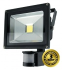 LED reflektor SMD s čidlem pohybu 20W černý, 1xCOB LED WM-20WS-E