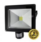LED reflektor SMD s čidlem pohybu 50W černý, 1xCOB LED WM-50WS-E