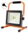 LED reflektor 20W černo oranžový+stojan, 1xCOB LED WM-20W-ES