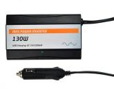 Solight invertor 12V, USB 1000mA, plastový, černý, max. zatížení: 130W
