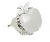 Solight noční LED světélko jablko, 0,5W, RGB, 230V, vypínač