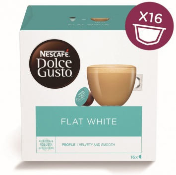 Kapsle Nescafe Flat White 16 ks k Dolce Gusto