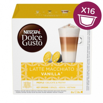Kapsle Nescafe Latté Macchiato Vanilla 16 ks k Dolce Gusto