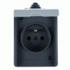 ABB 5518-2929 S Instalační zásuvka nástěnná IP44 šedá