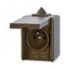 ABB 5518-2929 H Instalační zásuvka nástěnná IP44 hnědá
