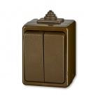 ABB 3553-05929 H Instalační spínač nástěnný IP44 č.5 hnědý