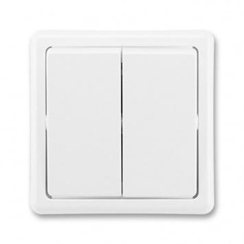 ABB Classic 3553-52289 B1 Vypínač č.5B 6+6 bílý