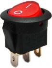 Spínač 12V/20A červený kontrolka kulatý L487