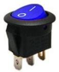 Spínač 12V/16A modrý kontrolka kulatý L253