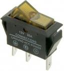 Spínač 12V/20A žlutý kontrolka L475