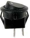 Spínač 250V/1A černý kulatý mini L472