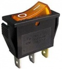 Spínač 250V/15A žlutý kontrolka L257
