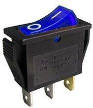 Spínač 250V/15A modrý kontrolka L259