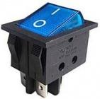 Spínač 2pól. 250V/15A modrý kontrolka L265