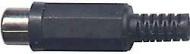 Zásuvka cinch černá kabelová D967
