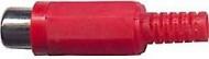 Zásuvka cinch červená kabelová D966