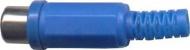 Zásuvka cinch modrá kabelová D968