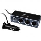 Rozbočovač autokon. 3x+USB Sencor SCH 440