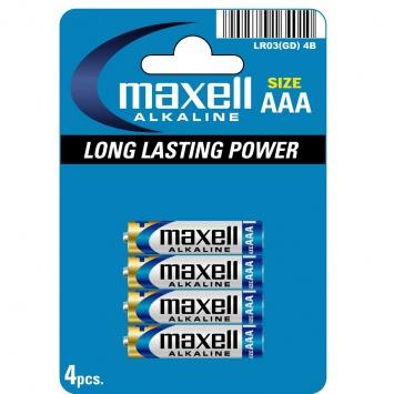 Baterie AAA Maxell  Alkalická  1ks článku